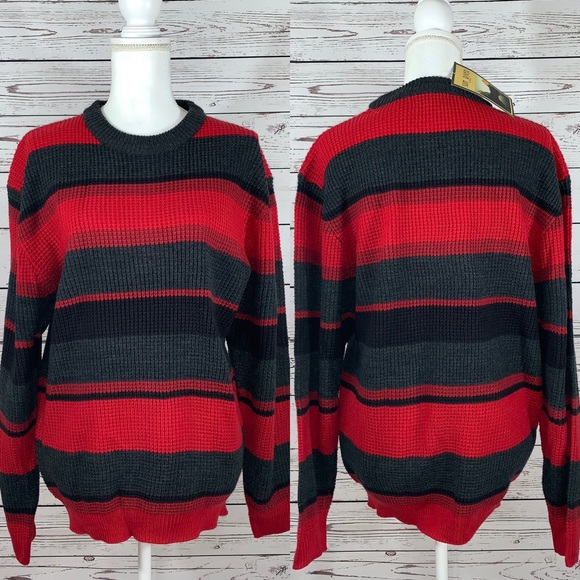 Sun River Other - NWT Sun River red and gray striped sweater